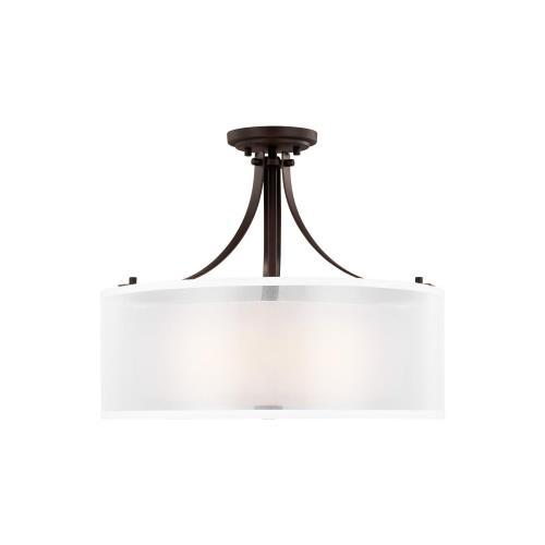 Sea Gull Lighting 7737303 Elmwood Park - 3 Light Semi-Flush Mount