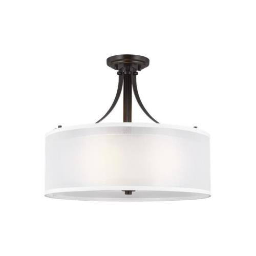 Sea Gull Lighting 7737303EN3 Elmwood Park - 19 inch 27.9W 3 LED Semi-Flush Mount