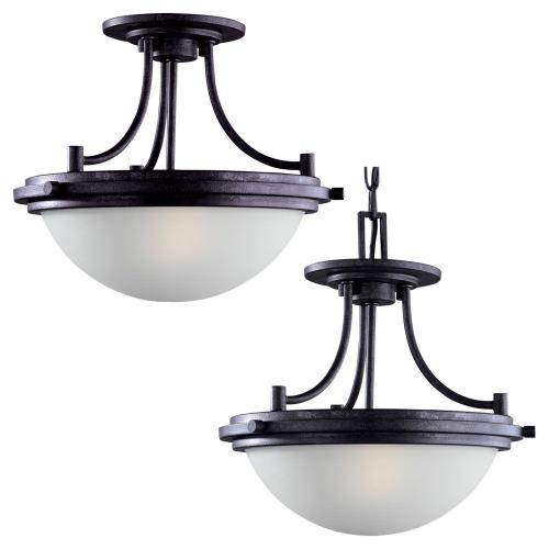 Sea Gull Lighting 77660 Winnetka  2 Light Ceiling Flush Mount Steel