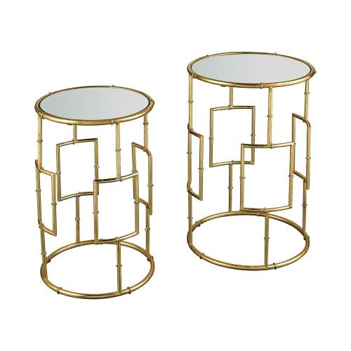 Stein World 16707 King Priam - 22.44 Inch Round Accent Tables (Set of 2)