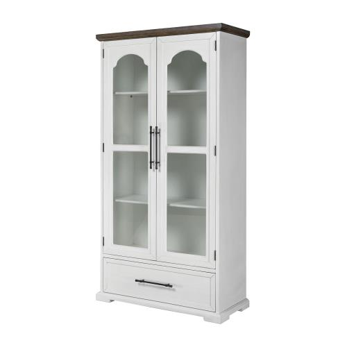 Stein World 17221 Locksmith - 78 Inch 2-Door 1-Drawer Cabinet with Bookcase Shelves