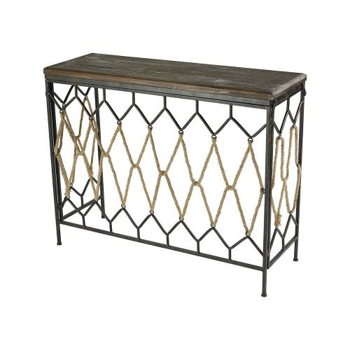 Sterling Industries 3200-131 Rope Truss - 41 Inch Console Table