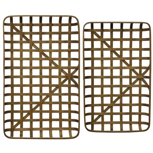 Stylecraft Home Collection AC721160DS Paracel - 40.6 Inch Bamboo Trays (Set of 2)