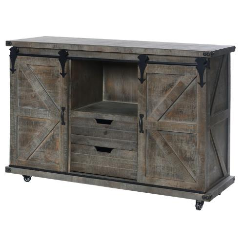 Stylecraft Home Collection AF17797DS Presley - 47 Inch 2 Door/2 Drawer and Open Center Cabinet