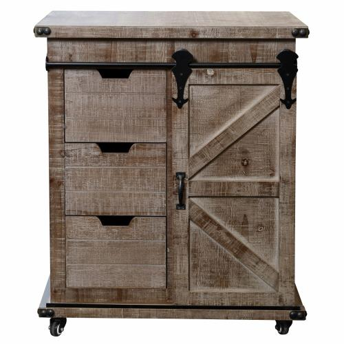 Stylecraft Home Collection AF17800ADS Presley - 27 Inch 3 Drawer with Door Side Cabinet