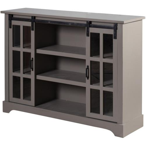 Stylecraft Home Collection AF18027ADS Church St. - 48 Inch 2 Sliding Door with Shelves Sideboard