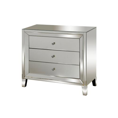 Stylecraft Home Collection SF2072DS 28.7 Inch 3 Drawer Mirrored Chest