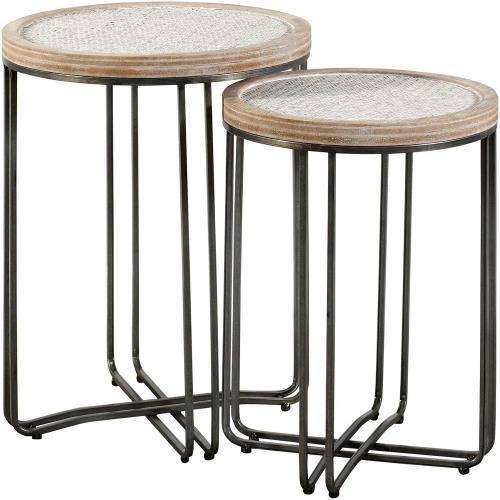 "Stylecraft Home Collection SF225185DS Ryder - 25"" Round Table (Set of 2)"