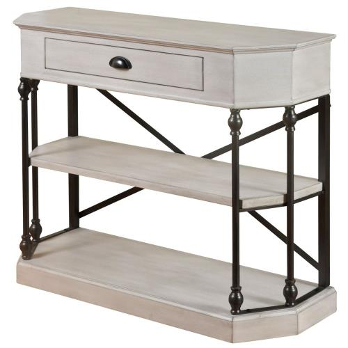 "Stylecraft Home Collection SF24965DS 40"" 3 Tier Single Drawer Clipped Corner Console Table"