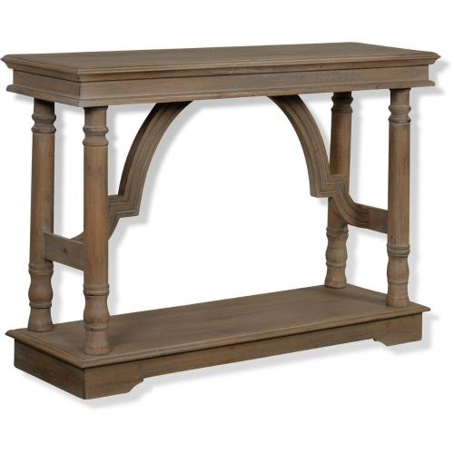 Stylecraft Home Collection SF25402DS 47 Inch Wood Trestle Console Table with Arch Detail
