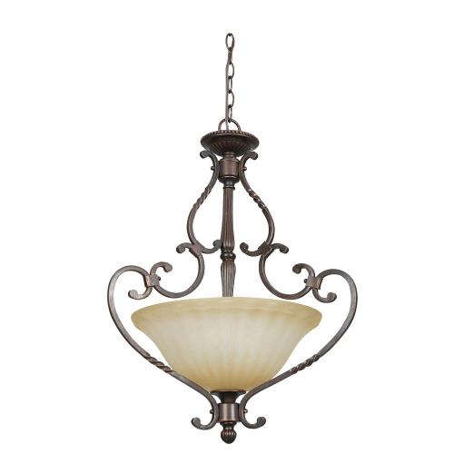 Sunset Lighting F5297-61 Graham - Three Light Pendant