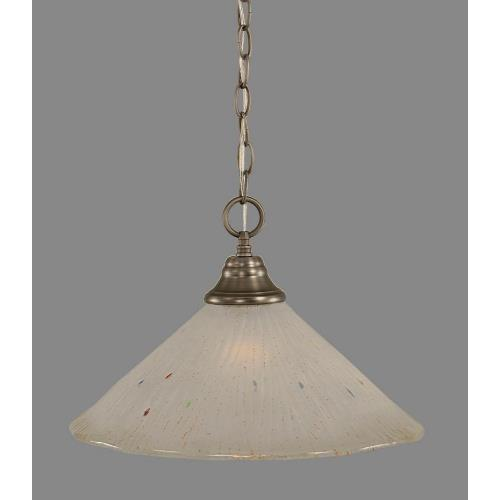 Toltec Lighting 10-BN-711 Hung - One Light Chain Pendant
