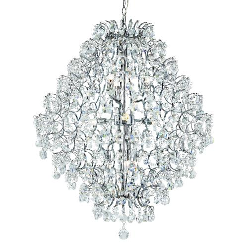 Trans Globe Lighting HH-9 PC Cascade - Nine Light 3-Tier Chandelier