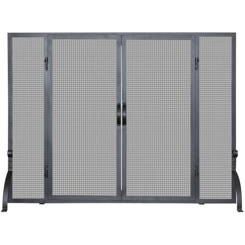 "UniFlame S-1046 44"" Single Panel Large Screen with Doors"