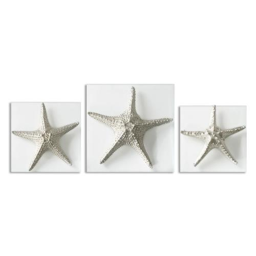 Uttermost 1129 Starfish - 15 Inch Decorative Wall Art (Set of 3)