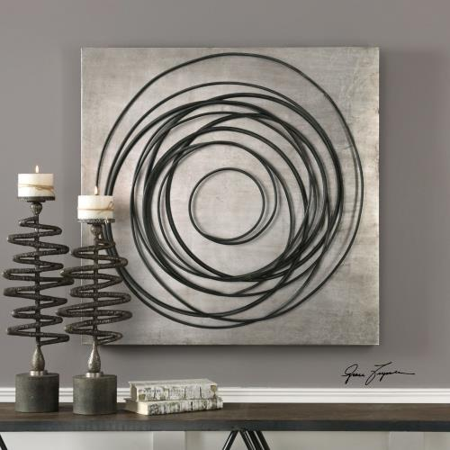 Uttermost 04105 Whirlwind - 36.5 inch Iron Coils Wall Art