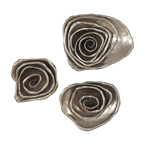 Uttermost 04184 Amalie - 14.13 inch Spiral Wall Decor (Set of 3)