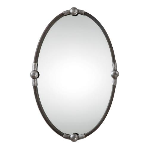 Uttermost 09064 Carrick - 32.25 inch Oval Mirror - 21.5 inches wide by 2.25 inches deep