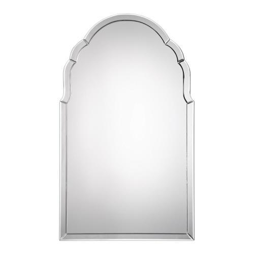 Uttermost 09149 Brayden - 40 inch Frameless Arched Mirror