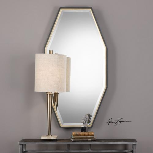 Uttermost 09258 Savion - 46 inch Octagon Mirror - 24 inches wide by 1.5 inches deep