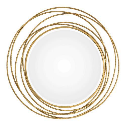 Uttermost 09348 Whirlwind - 39.37 inch Round Mirror