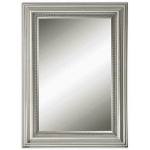 Uttermost 12005 B Stuart Silver - 36.75 inch Mirror - 26.75 inches wide by 1.5 inches deep