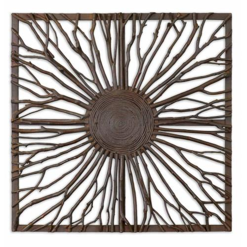 Uttermost 13777 Josiah - 26.88 inch Square Wall Art - 26.88 inches wide by 2 inches deep