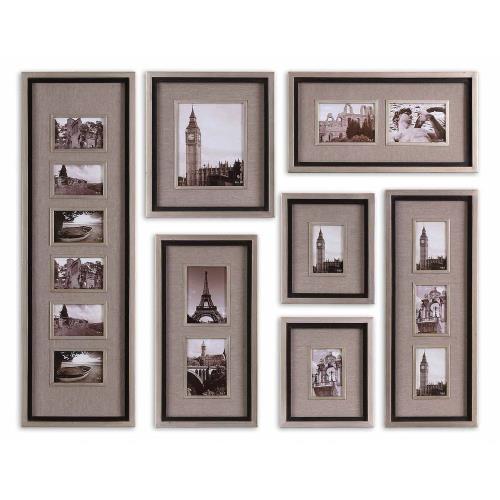Uttermost 14458 Massena - 58 inch Photo Frame Collage (Set of 7)
