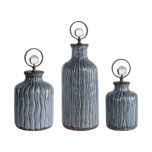 Uttermost 18633 Mathias - 17.5 inch Vessel (Set of 3)