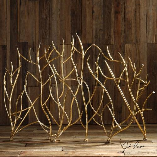 Uttermost 18796 Gold Branches - 47 inch Decorative Fireplace Screen