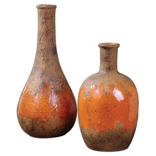 Uttermost 19825 Kadam - 12 inch Vase (Set of 2)