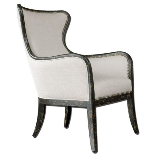 Uttermost 23073 Sandy - 41.25 inch Wing Back Armchair