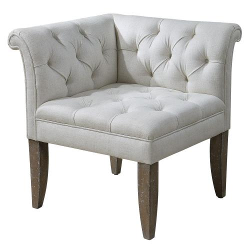 Uttermost 23125 Tahtesa - 30.75 inch Corner Chair - 28.5 inches wide by 28.5 inches deep