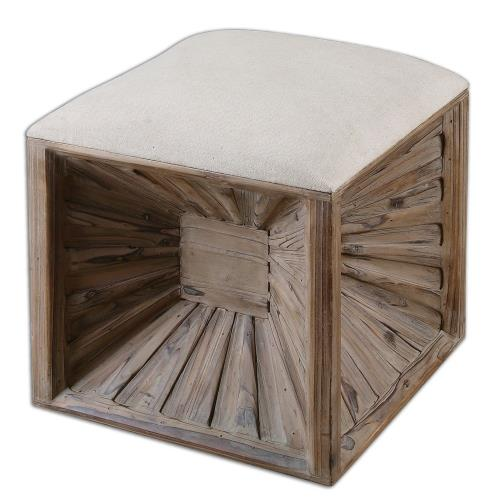 Uttermost 23131 Jia - 19 inch Ottoman - 17 inches wide by 17 inches deep