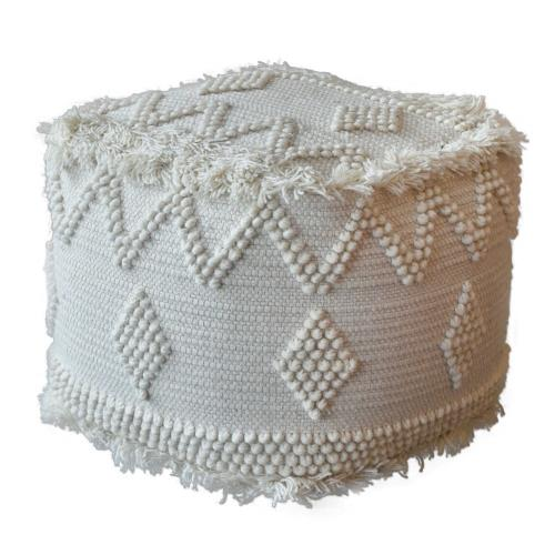 Uttermost 23965 Uriah - 18 inch Pouf - 18 inches wide by 18 inches deep