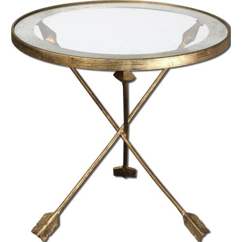 Uttermost 24275 Aero - 20 inch Glass Top Accent Table