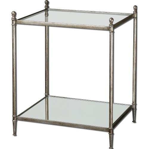 Uttermost 24282 Gannon - 27.13 inch End Table - 22.5 inches wide by 18.13 inches deep