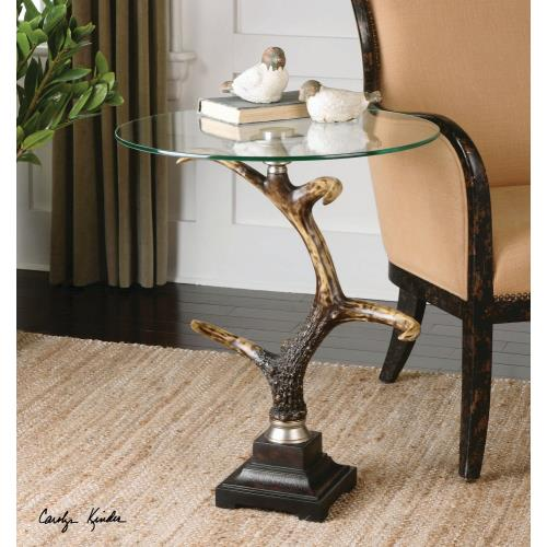 Uttermost 24430 Stag Horn - 26.38 inch Accent Table