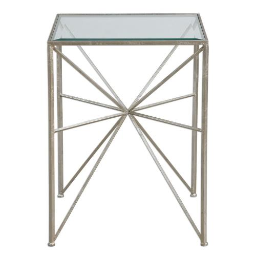 Uttermost 24631 Silvana - 24.5 inch Side Table - 18.13 inches wide by 18.13 inches deep