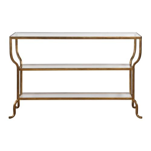 Uttermost 24668 Deline - 54.13 inch Console Table - 54.13 inches wide by 13.88 inches deep