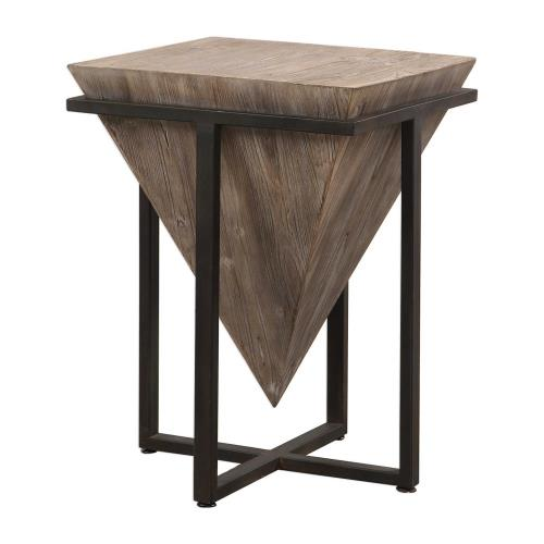Uttermost 24864 Bertrand - 25.25 inch Accent Table - 18.25 inches wide by 18.25 inches deep