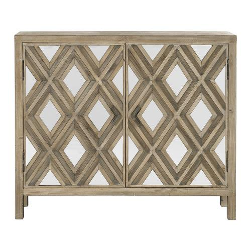 Uttermost 24866 Tahira - 42.25 inch Mirrored Accent Cabinet