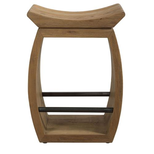 Uttermost 24988 Connor - 25 Inch Modern Wood Counter Stool