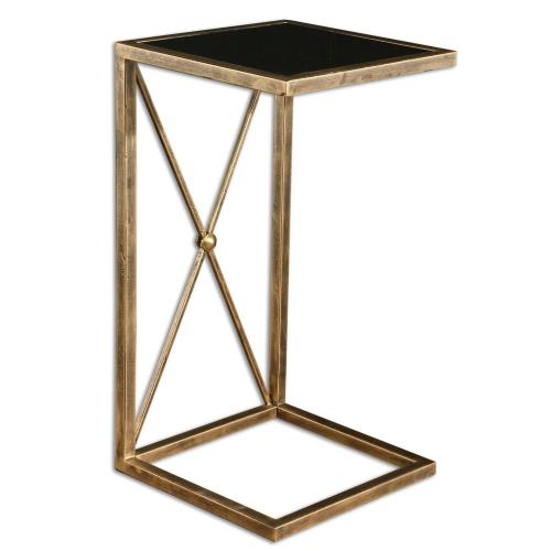 Uttermost 25014 Zafina - 25 inch Side Table - 13 inches wide by 13 inches deep