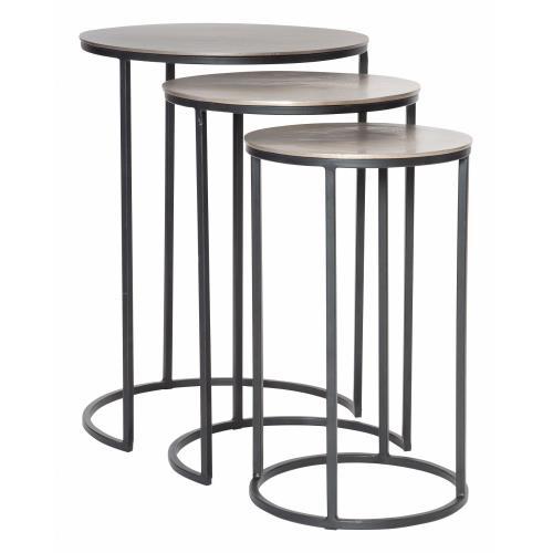 Uttermost 25057 Erik - 23.7 inch Metal Nesting Tables (Set of 3)