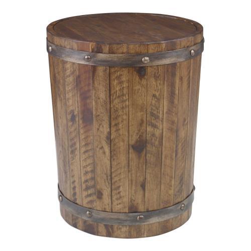 Uttermost 25327 Ceylon - 24 inch Wine Barrel Accent Table