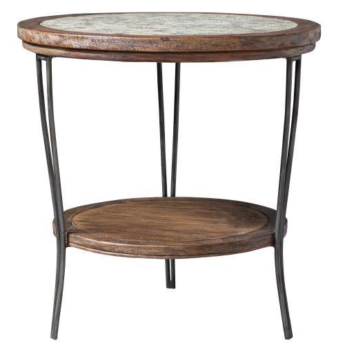 Uttermost 25446 Saskia - 24 inch Round Side Table