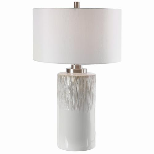 Uttermost 26354-1 Georgios - 1 Light Cylinder Table Lamp - 18 inches wide by 18 inches deep