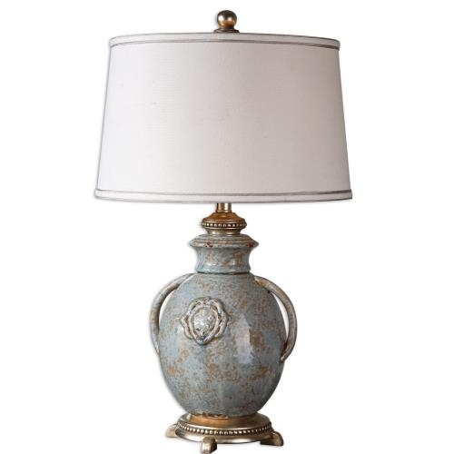 Uttermost 26483 Cancello - 1 Light Table Lamp - 17 inches wide by 17 inches deep
