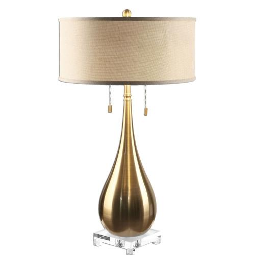 Uttermost 27048-1 Lagrima - 2 Light Table Lamp - 18 inches wide by 18 inches deep